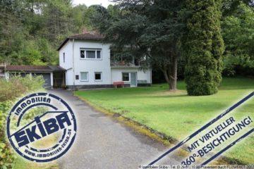Idyllisch gelegenes Wohnhaus mit langer Einfahrt auf großem ebenem Grundstück 53520 Kaltenborn-Herschbach, Einfamilienhaus