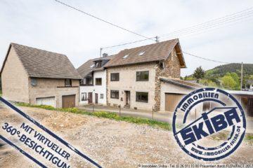 Zwei Einfamilienhäuser + 4 Garagen + riesen Grundstück und Aussicht über Adenau 53518 Wimbach, Zweifamilienhaus