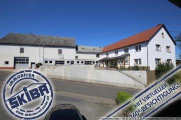 Ein Sahnestück für Kfz-Freunde – 30 Scheunen-Pkw-Plätze – 10 Einfahrten – Bauernhaus mit viel Platz 53520 Drees, Zweifamilienhaus